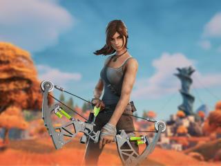 Lara Croft Fortnite wallpaper