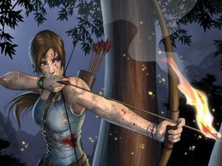 HD Wallpaper | Background Image lara croft, tomb raider, bow