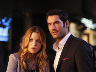 Lauren German & Tom Ellis Lucifer wallpaper
