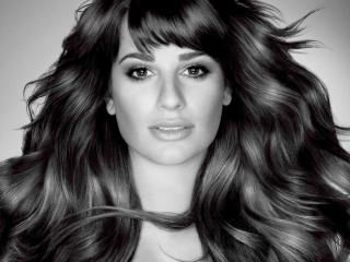 Lea Michele Black And White Images wallpaper