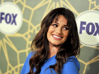 Lea Michele Blue Dress Images wallpaper
