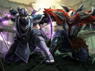 league of legends, battle, fantasy wallpaper