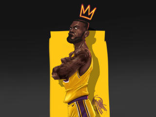 LeBron James FanArt wallpaper