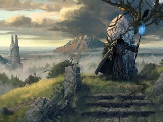 legend of grimrock 2, wizard, hero wallpaper