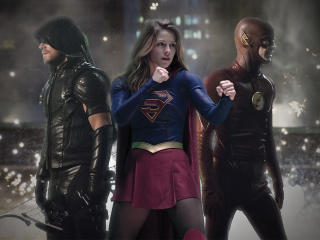 Legends Of Tomorrow Flash Arrow Supergirl wallpaper