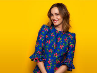 Leighton Meester AOL Build Portrait 2018 wallpaper
