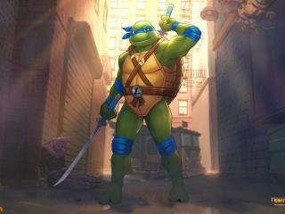 Leonardo TMNT x Smite wallpaper