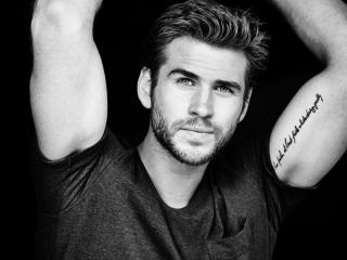 liam hemsworth, actor, smile wallpaper