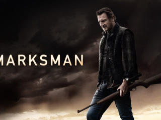 Liam Neeson in The Marksman wallpaper