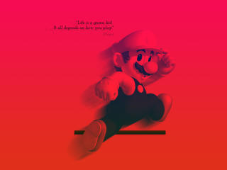 Life is a Game Mario Quote wallpaper