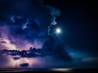 Lightning at Night HD wallpaper