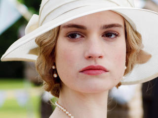 lily james, actress, hat wallpaper