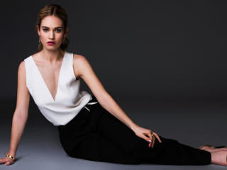 Lily James Hot Photoshoot 2017 wallpaper