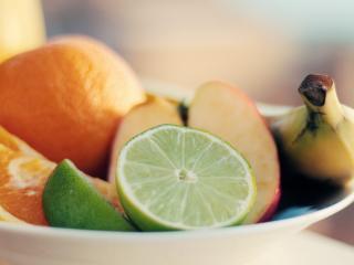 lime, fruit, slicing wallpaper