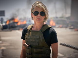 Linda Hamilton in Terminator 6 wallpaper