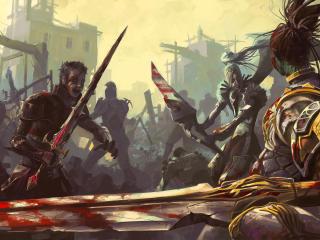 lineage 2, battle, war wallpaper