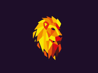 Lion Purple Background Digital Art wallpaper