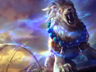 Lion Roar Colorful Fantasy Artwork wallpaper