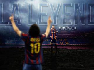 Lionel Messi Barcelona Tribute wallpaper