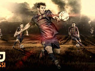 Lionel Messi Digital Art wallpaper