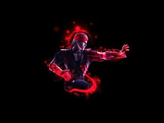 Liu Kang Mortal Kombat Minimal Art wallpaper