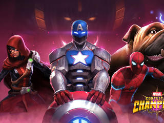 Lockjaw Spider-Man Captain America Marvel CoC wallpaper