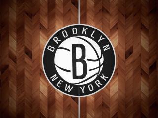 Logo of Brooklyn Nets NBA wallpaper