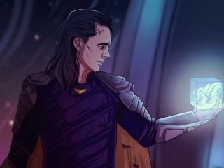 Loki Holding Infinity Stone wallpaper