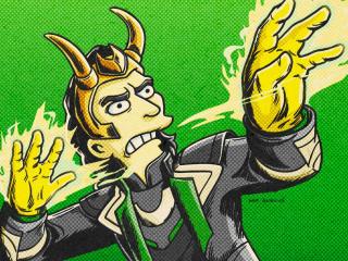 Loki Simpsons wallpaper