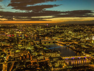 London Lights at Sunset wallpaper