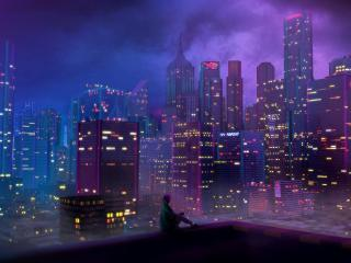 Lonely Girl in the City wallpaper