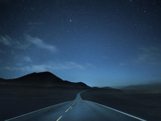 Lonely Road at Night wallpaper