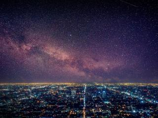 Los Angeles Starry Night wallpaper