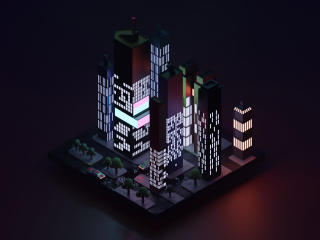 Low Poly City Block wallpaper