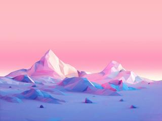 Low Poly Mountains wallpaper