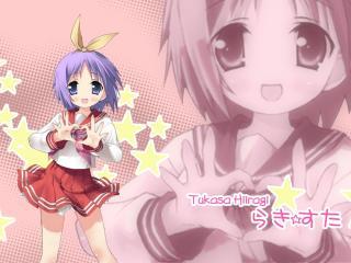 lucky star, hiiragi tsukasa, girl wallpaper