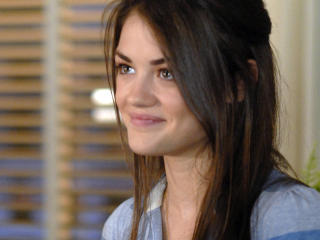 Lucy Hale Charming Smile wallpaper