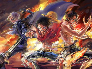 Luffy, Ace and Sabo One Piece Team wallpaper
