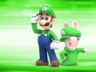 Luigi Mario Raving Rabbids wallpaper