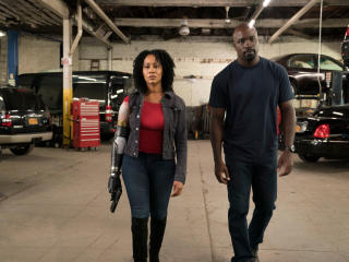 Luke Cage Misty Knight With Bionic Arm wallpaper