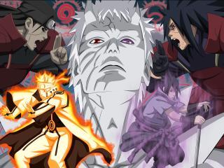madara uchiha, naruto anime, obito wallpaper