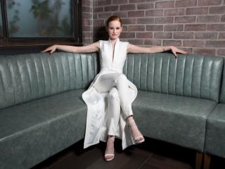 Madelaine Petsch In White Dress wallpaper