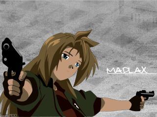 madlax, girl, guns wallpaper