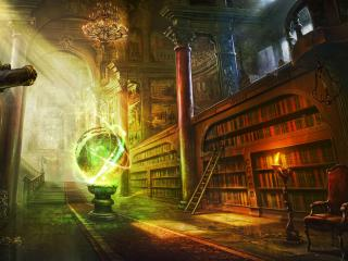 magic, ball, library wallpaper
