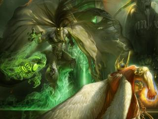 magic, creatures, battle wallpaper
