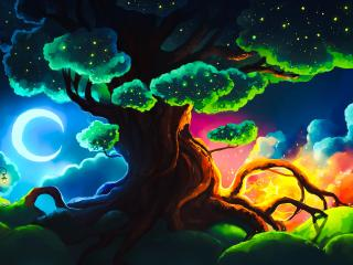 Magical Tree Art wallpaper