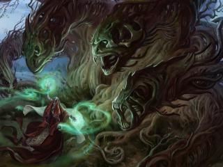 magician, sorcerer, monsters wallpaper