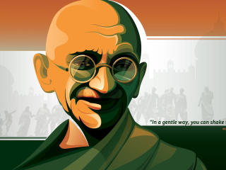 HD Wallpaper | Background Image Mahatma Gandhi  - You Can Shake The WORLD