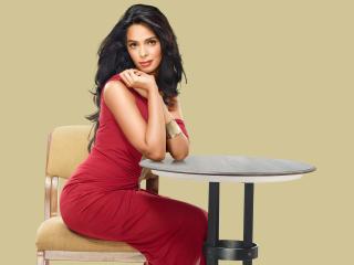 Mallika Sherawat In Red Dress  wallpaper