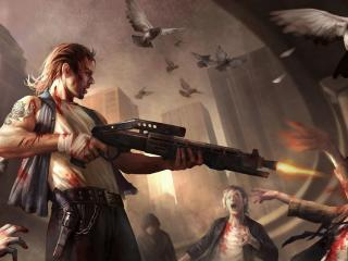 man, guns, shooting wallpaper